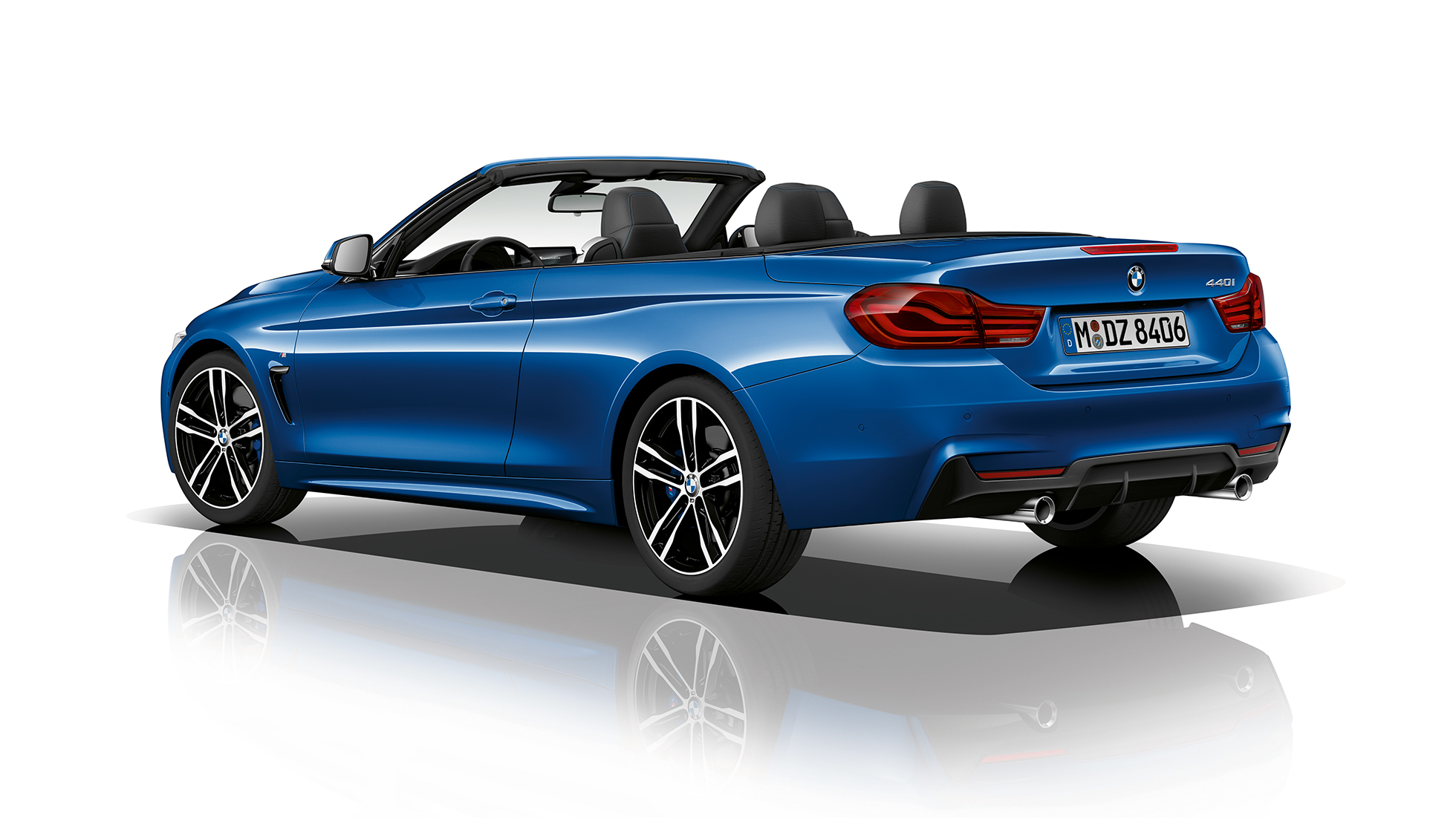 BMW 4 Series Convertible, Model M Sport three-quarter rear shot