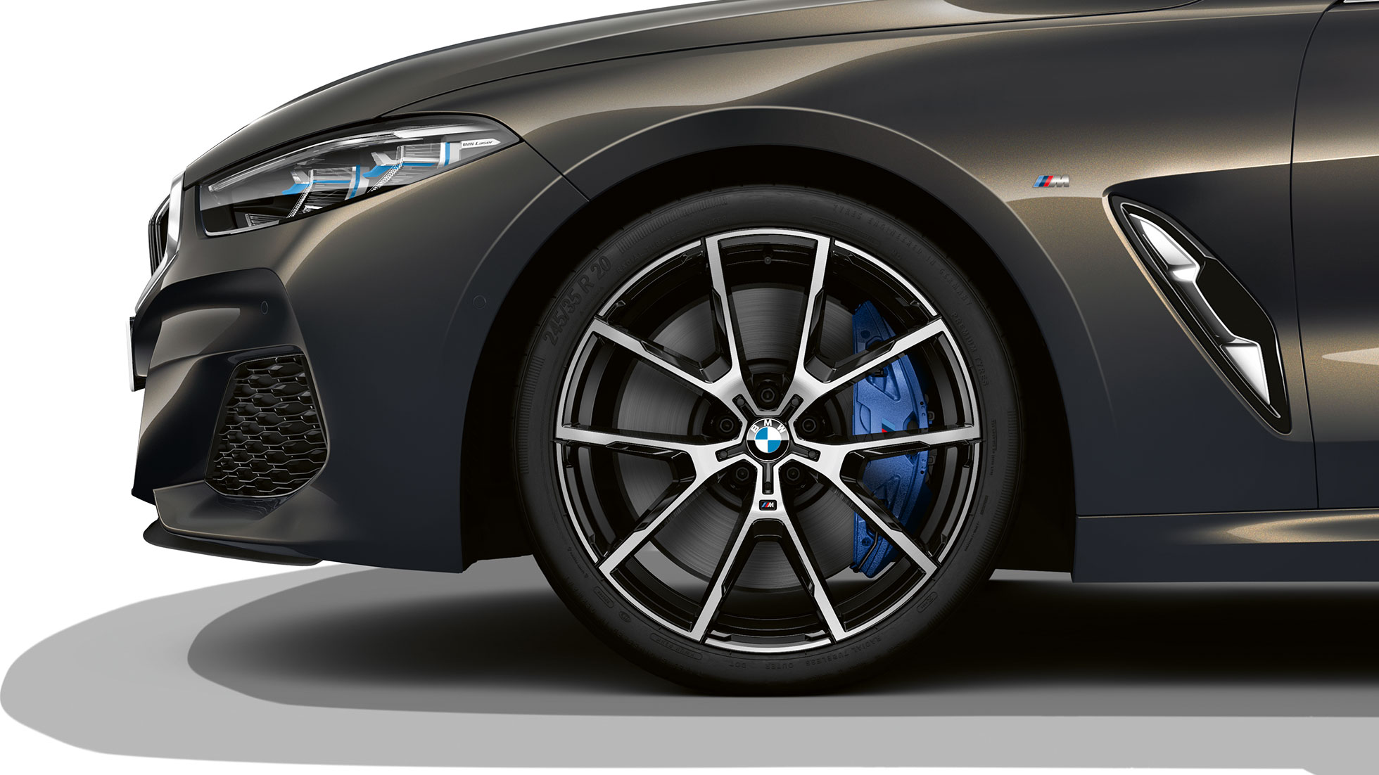 "BMW M850i xDrive, Dravit Grey metallic, 20"" light-alloy wheels Y-spoke 728 M."